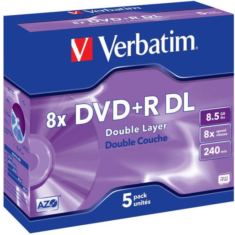 Verbatim DVD+R DL 43541 8.5 GB 120 min. 5 Stuks