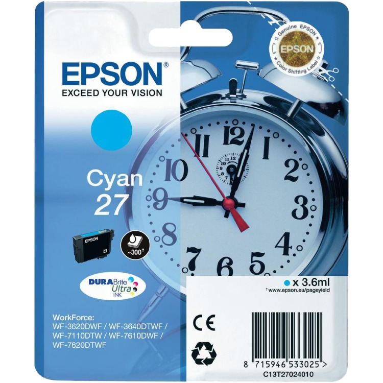 Epson 27 Cartridge Cyaan