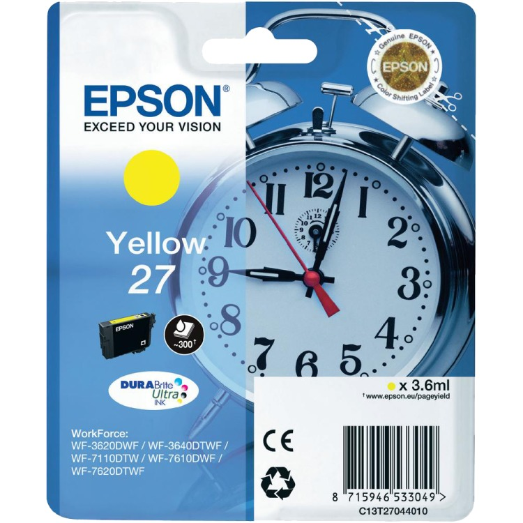 Epson 27 Cartridge Geel