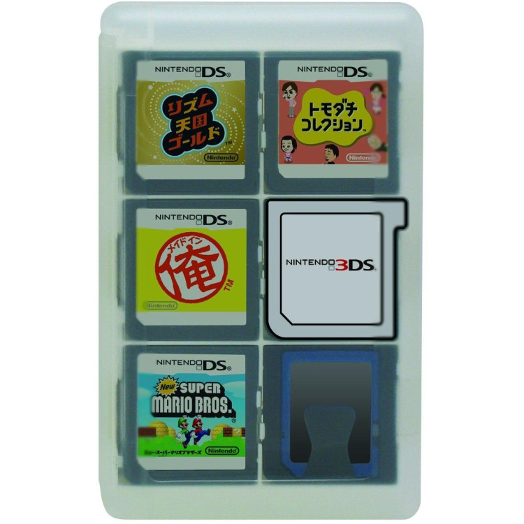 Hori, Game Card Case 24 3DS - Clear
