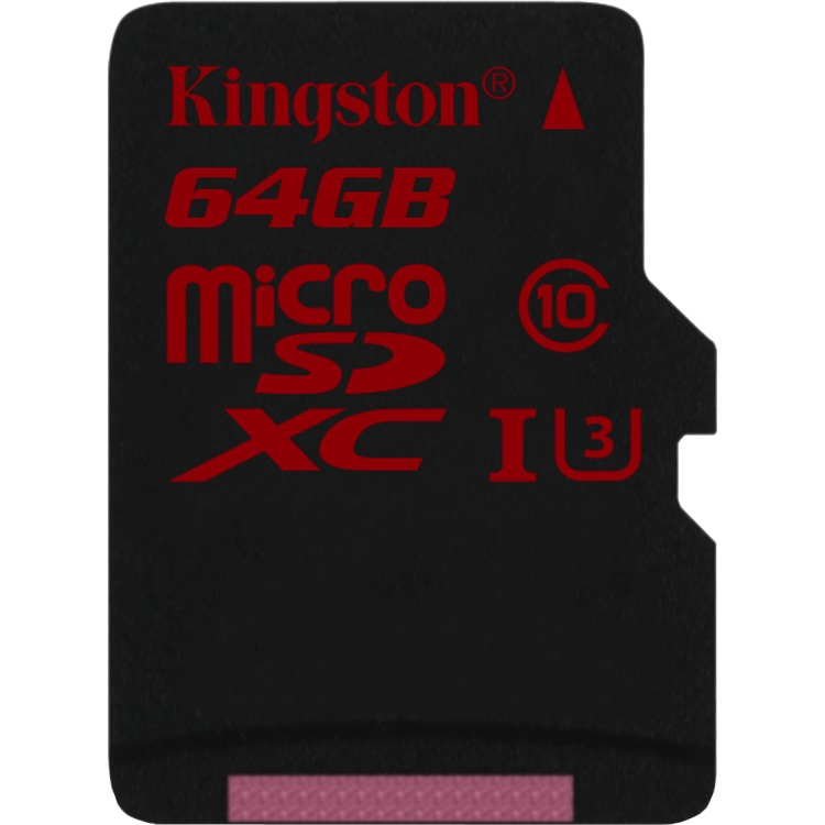 64GB mcrSDHC UHS-I spd clss 3 sng pack