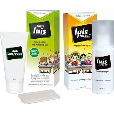 Lucovit Anti Luis Creme en Preventieve Spray - Luizenshampoo