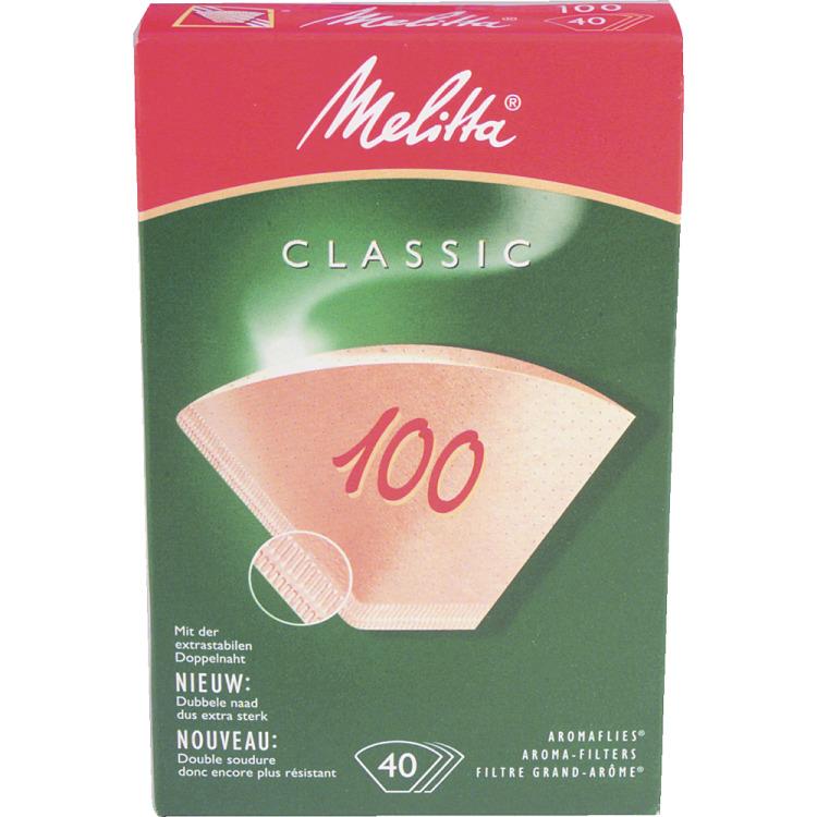 Melitta classic aroma filter formaat 100, 40 stuks natuurbruin