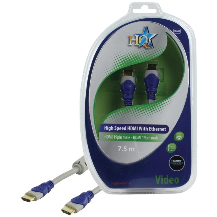 HQ - 1.4 High Speed HDMI kabel  - 7.5 m - Grijs/Blauw