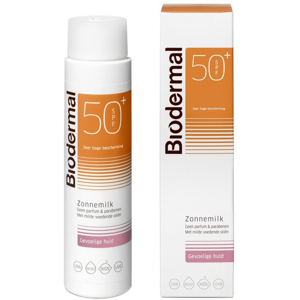 Biodermal Gevoelige Huid SPF 50+ - 150 ml - Zonnemelk