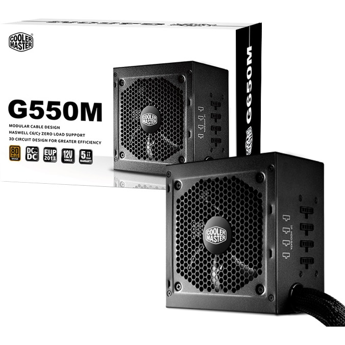 PSU GM 650W PSU 80Plus Bronze Modular w/EU/UK cable