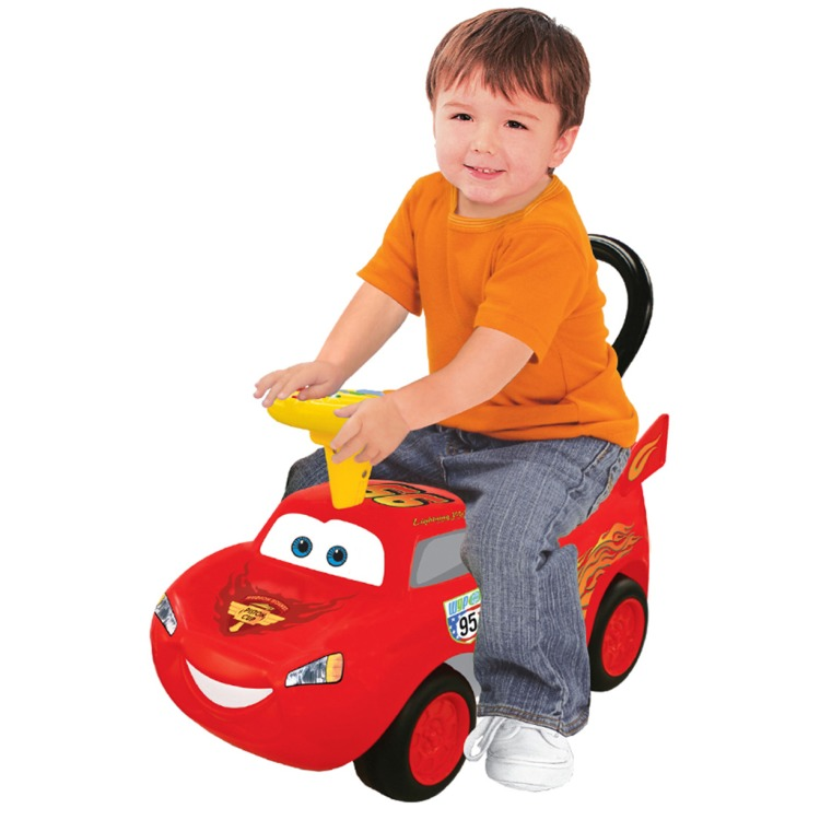 Cars McQueen - 4-in-1 Loopauto - Rood