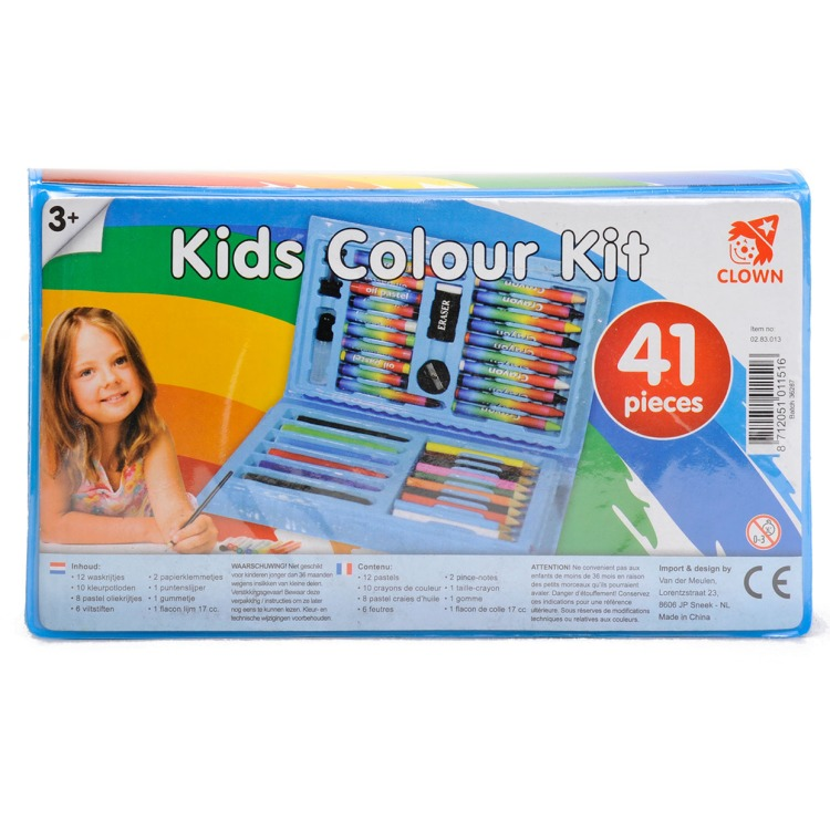 Image of Clown Kinder Kleurkoffer 41dlg