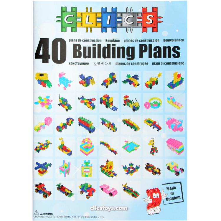 Image of Clics 40-in-1 bouwplannenboek