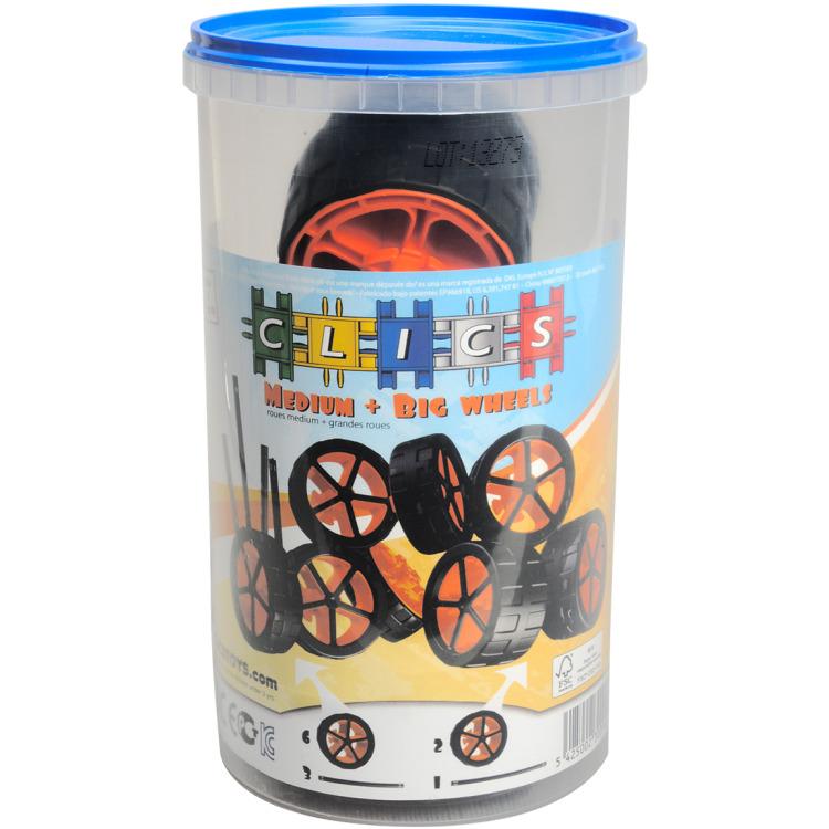 Image of Clics koker met wielen en assen