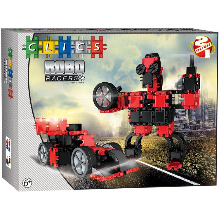 Image of Clics RoboRacer Rood 2-in-1 constructie blokken