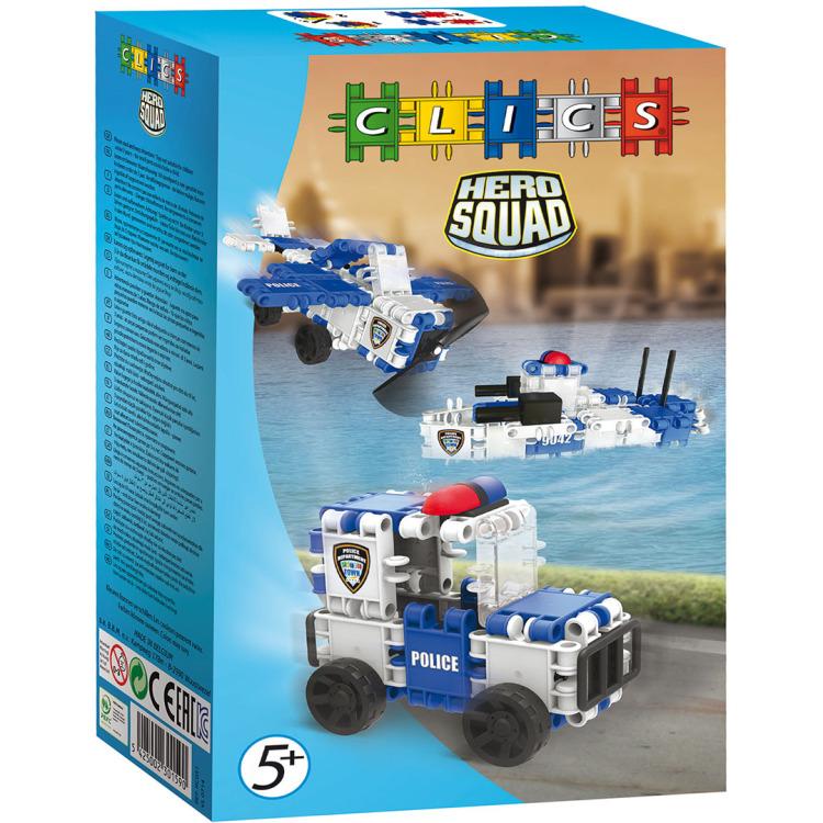 Image of Clics Hero Squad Politie 3 in 1