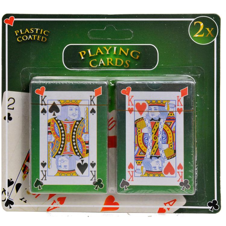 Speelkaarten - Geplastificeerd - 2 stuks