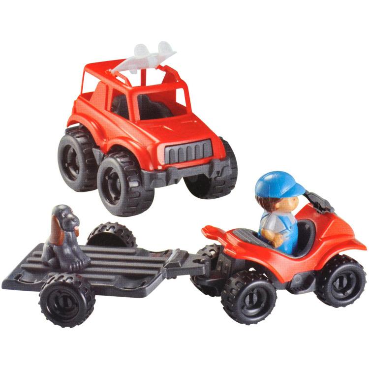 Abrick Tractor + aanhanger