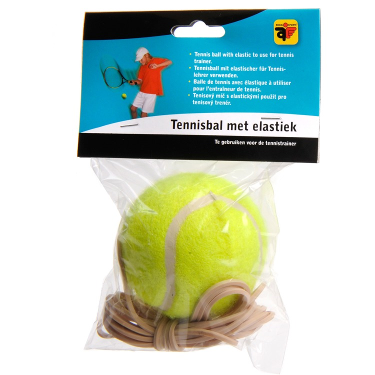 Angel sports Tennisbal met elastiek voor tennistrainer