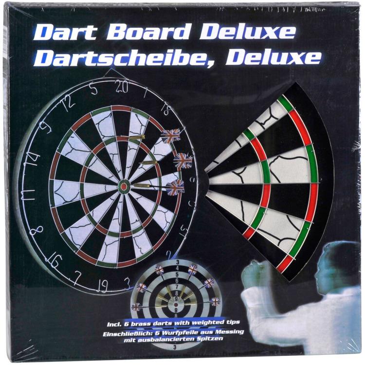 Image of Dartbord Deluxe Met Pijlen