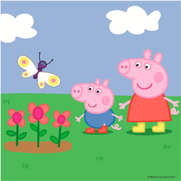 Jumbo Peppa 4 in 1-puzzel