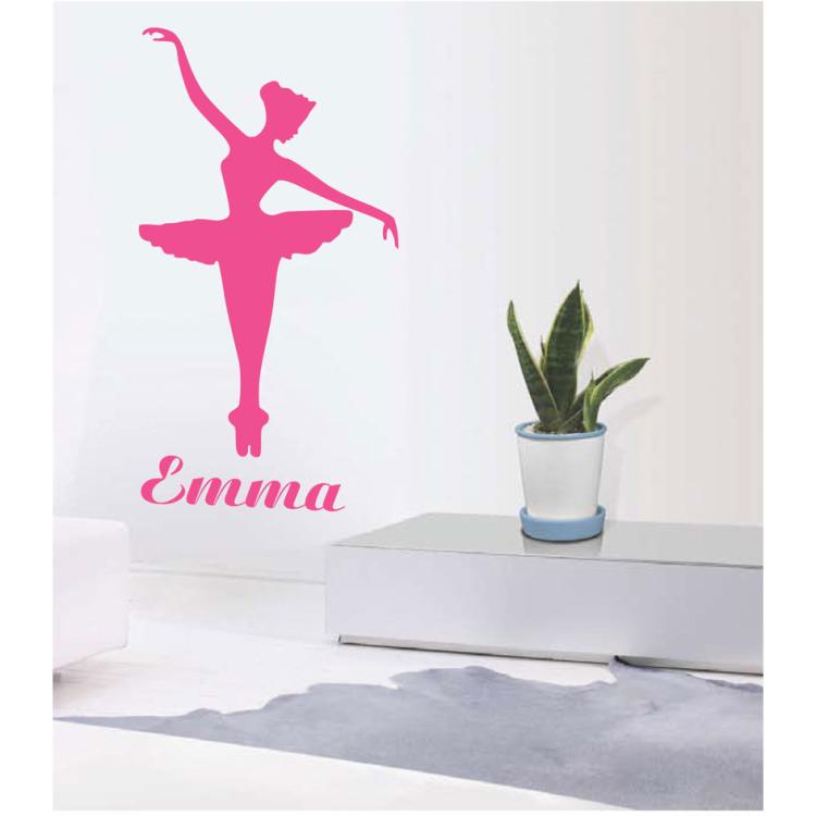 Image of Ballerina Emma Muursticker Roze