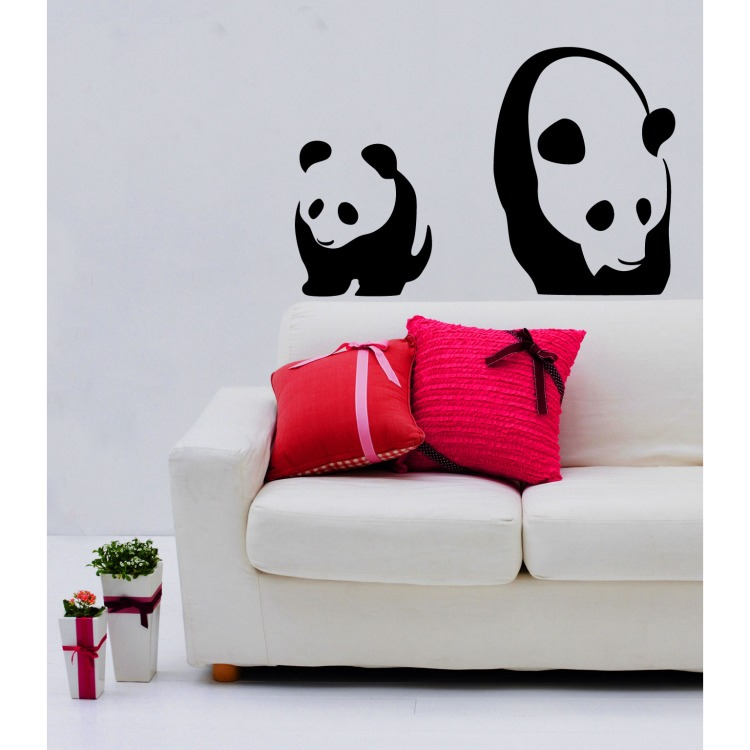 Image of Muurstickers Panda's
