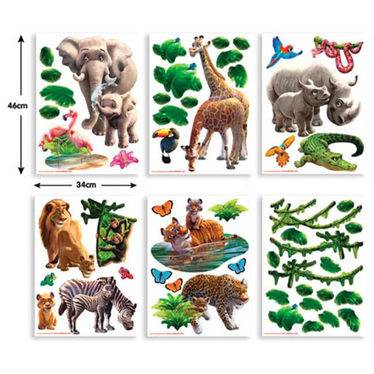 Walltastic Muursticker Box Jungle (54 stickers)