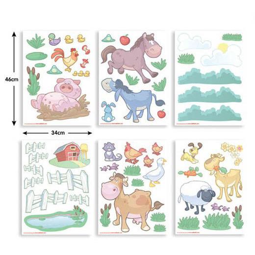 Walltastic Muursticker Box Baby Boerderij (65 stickers)