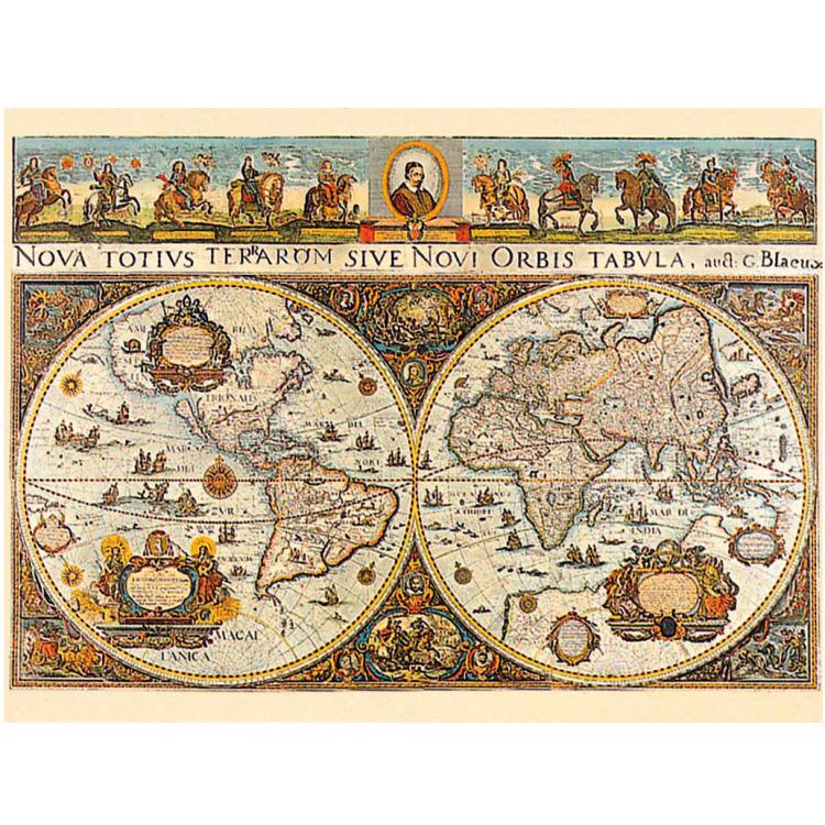 Ravensburger puzzel wereldkaart 1665 3000 stukjes