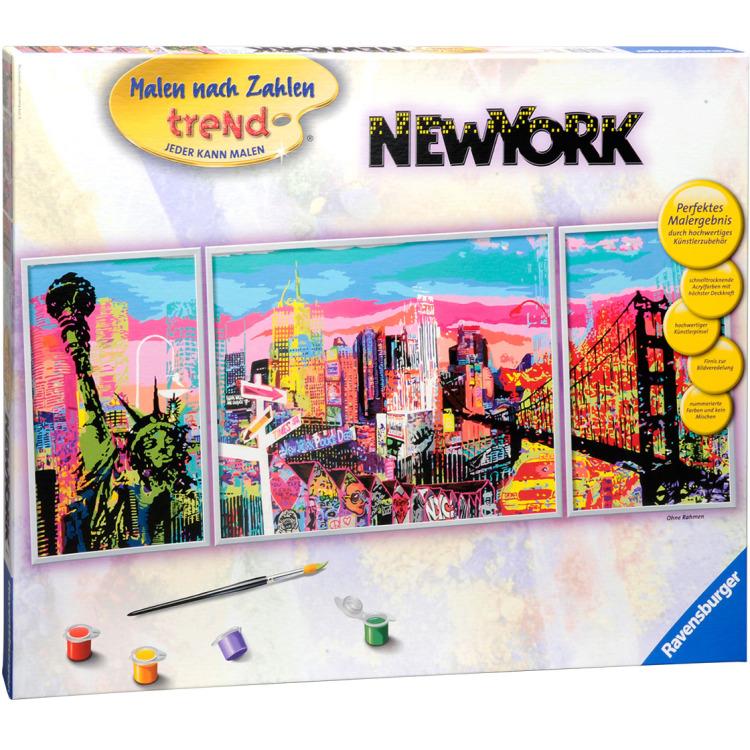 Schilderen op nummer skyline van new york ravensburger in de aanbieding kopen - Schilderende trend ...