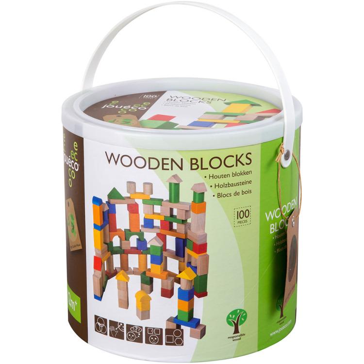 Image of Houten Blokken, 100 Stuks