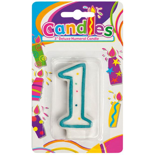 Image of 1 Verjaardagskaars