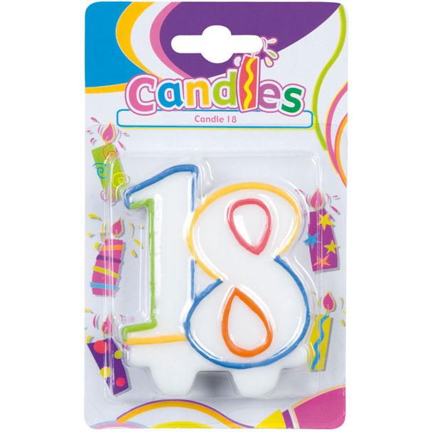 Image of 18 Verjaardagskaars
