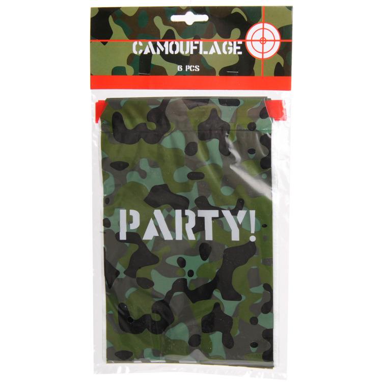 Image of Camouflage Uitdeelzakjes, 6st.