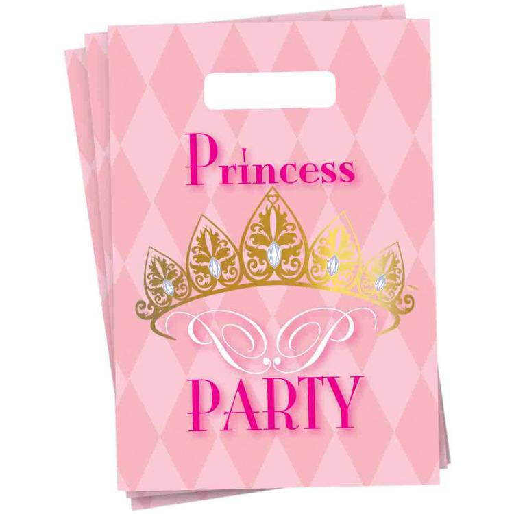 Princess Partytasjes - 6 Stuks