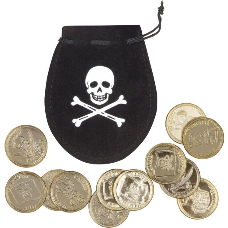 Image of Geldbuidel Piraat Met 12 Munten