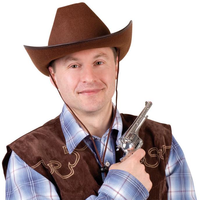Image of Cowboy Hut braun Filz Erw.