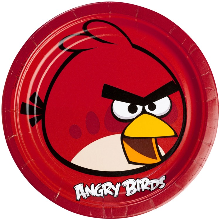 Image of Angr Bordjes Angry Birds 23 Cm: 8 Stuks