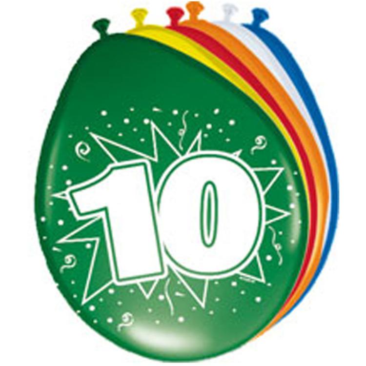 Image of 10 Jaar Ballonnen, 8 Stuks