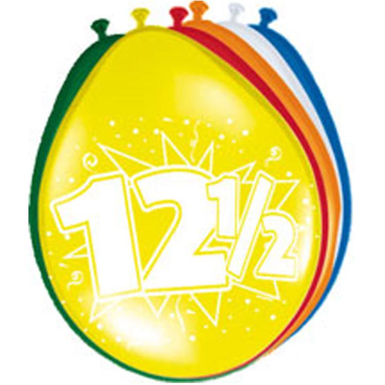 Image of 12,5 Jaar Ballonnen, 8 Stuks