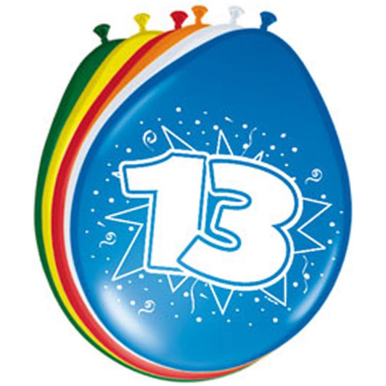 Image of 13 Jaar Ballonnen, 8 Stuks