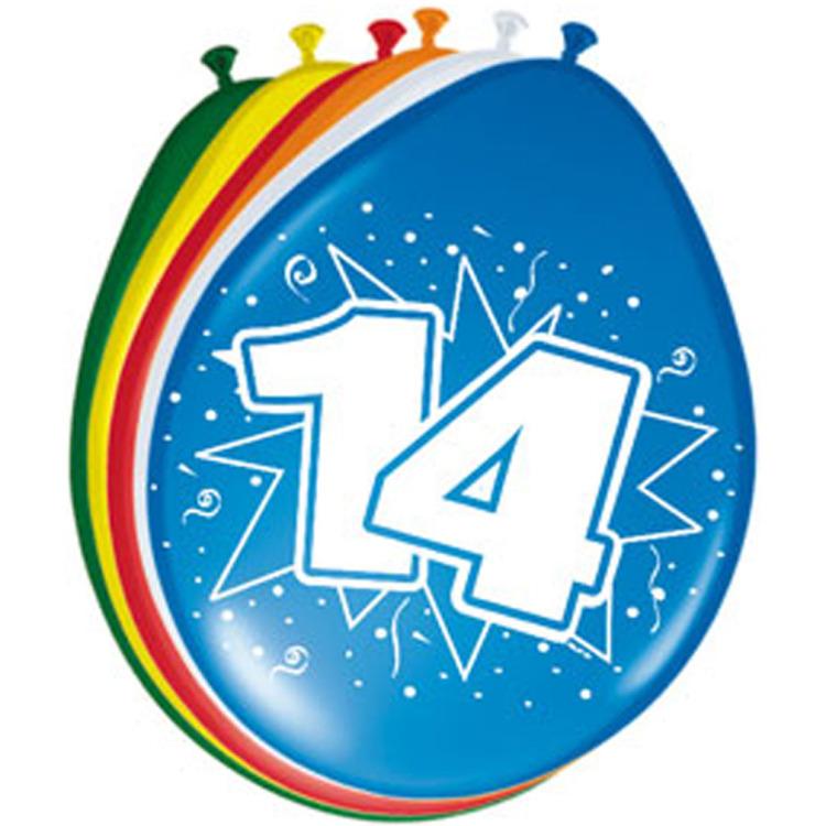 Image of 14 Jaar Ballonnen, 8 Stuks