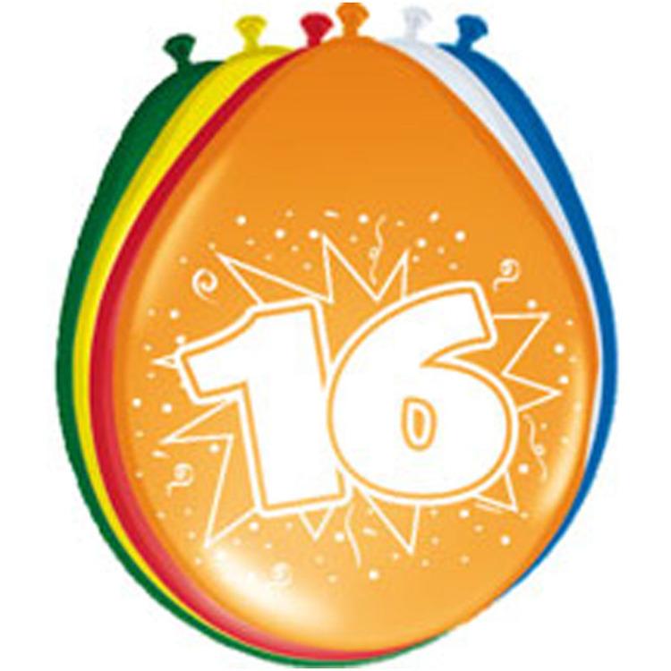 Image of 16 Jaar Ballonnen, 8 Stuks