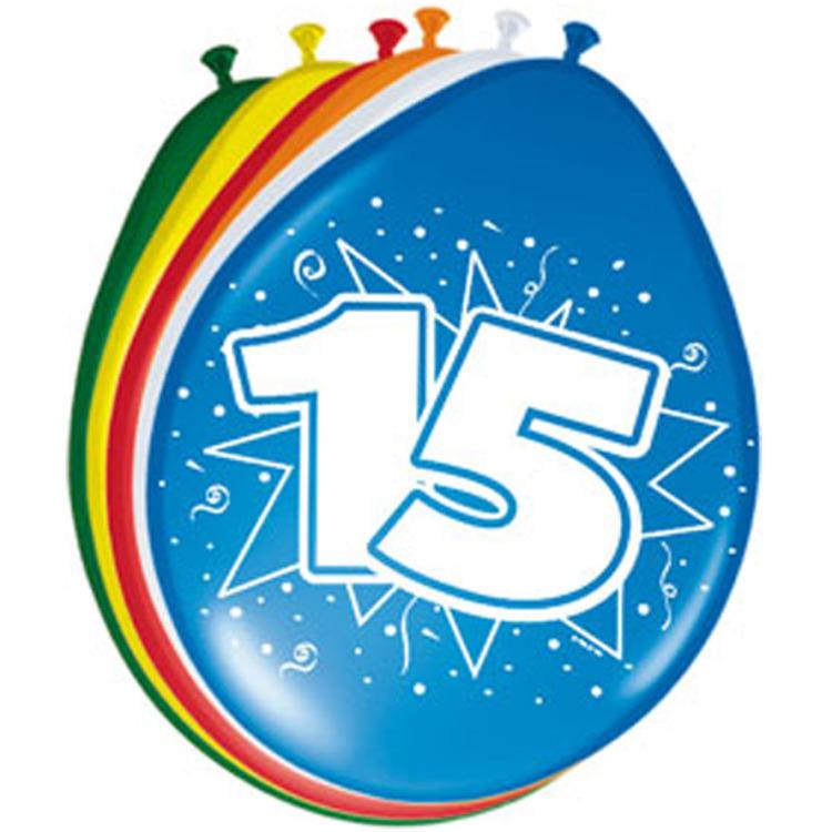 Image of 15 Jaar Ballonnen, 8 Stuks
