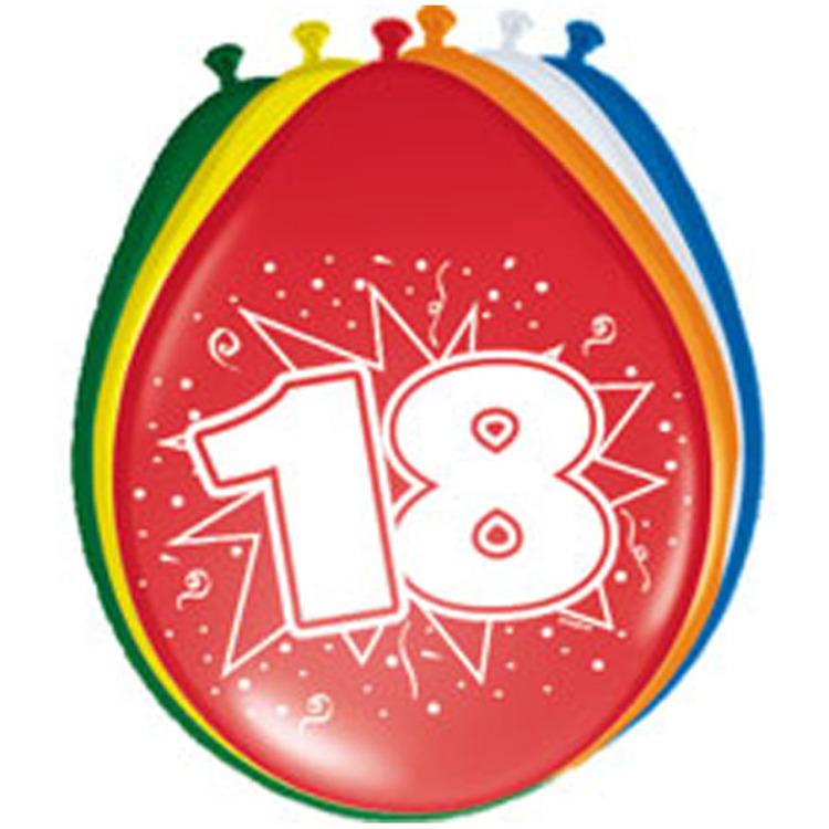 Image of 18 jaar ballonnen - 8 stuks
