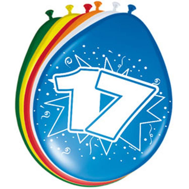 Image of 17 Jaar Ballonnen, 8 Stuks