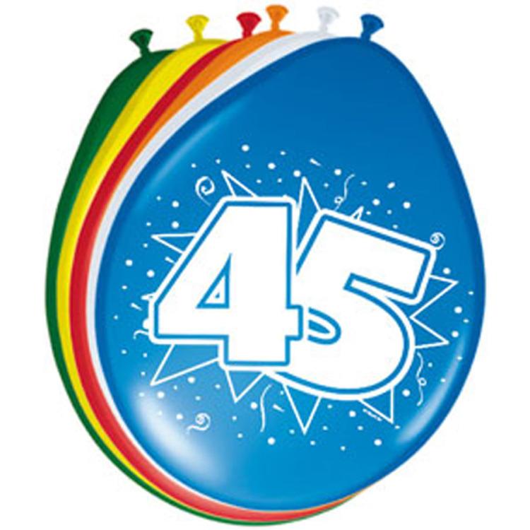 Ballonnen 45 Jaar, 8st.