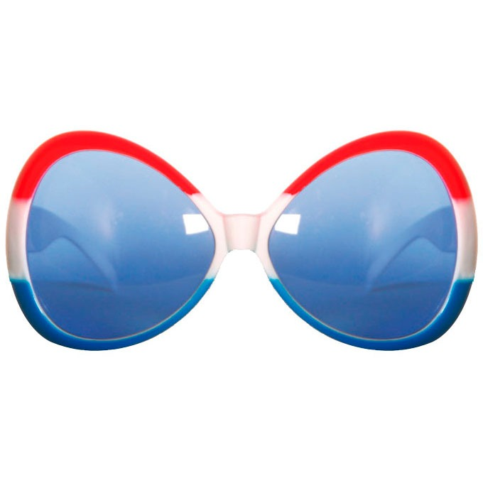 Bril Groot Rood Wit Blauw