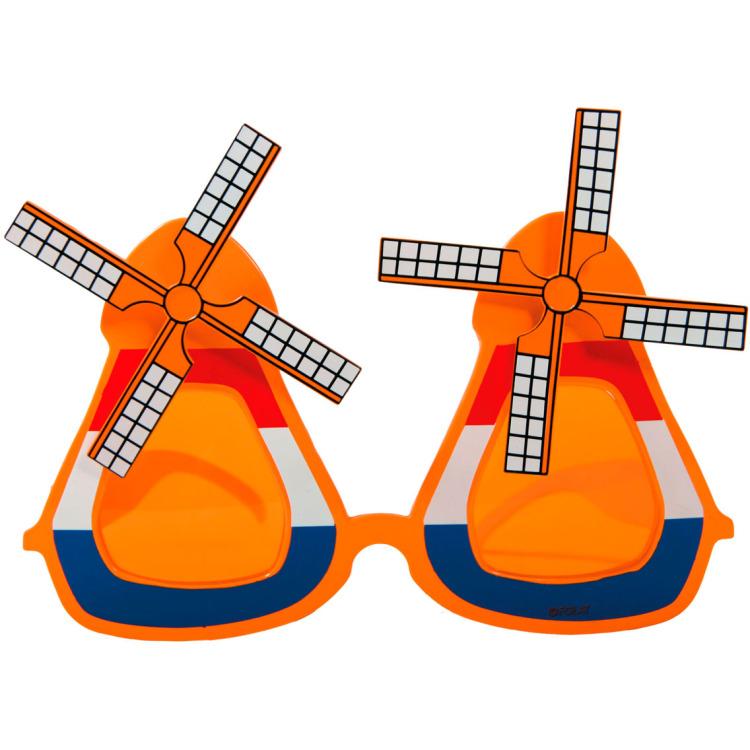 Molen bril rood-wit-blauw en oranje