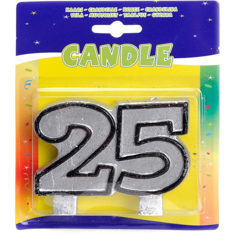 Image of 25 Verjaardagskaars