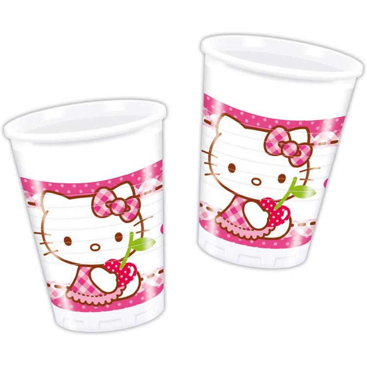 Bekertjes Hello Kitty 200 ml: 6 stuks -