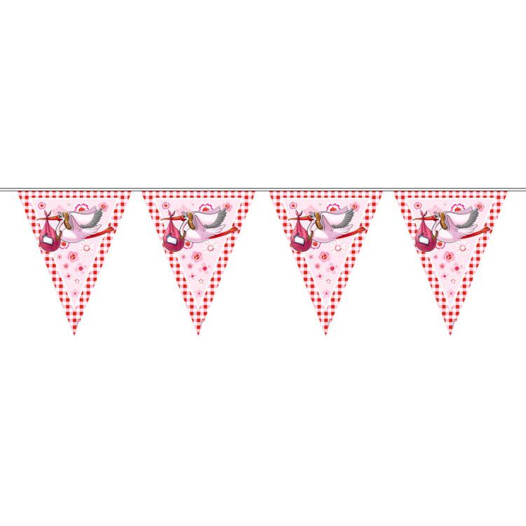 Image of Meisje Vlaggenlijn Roze, 6 M