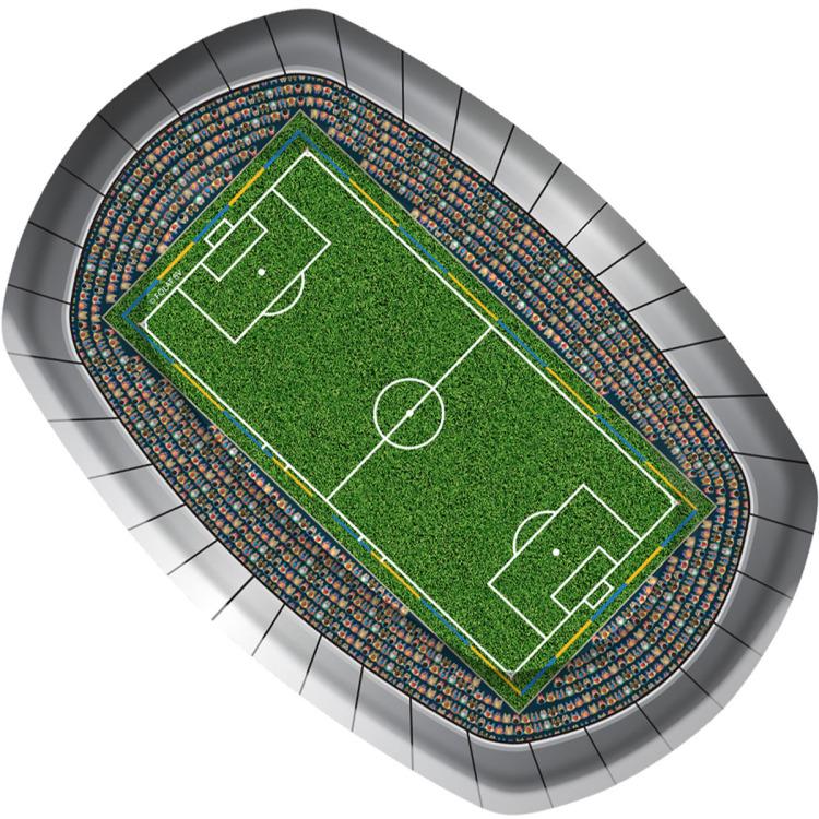 Bord Voetbal Rechthoek 18x27cm-8st